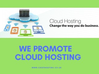 We Promote Cloud Hosting