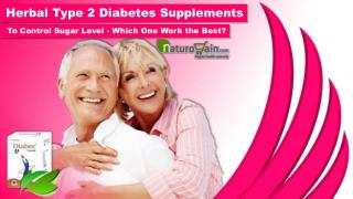 Herbal Type 2 Diabetes Supplements to Control Sugar Level - Which One Work the Best?