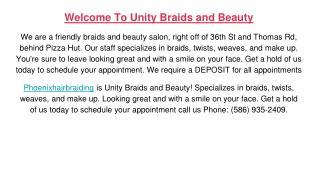 African hair braiding and salon services
