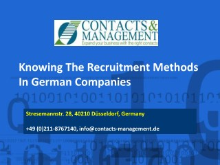 Knowing The Recruitment Methods In German Companies