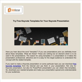 Try Free Keynote Templates for Your Keynote Presentation