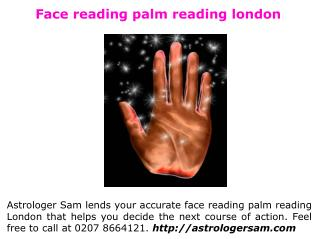 Face reading palm reading london
