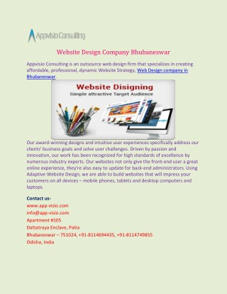 Website design company Bhubaneswar