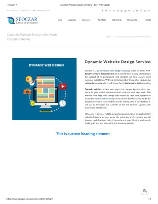Dynamic Website Design Services