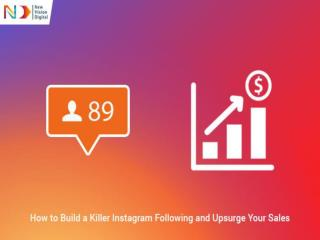 How to Build a Killer Instagram Following and Upsurge Your Sales