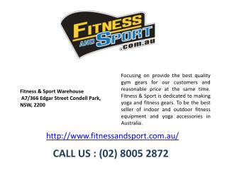 Fitness, Gym, Yoga Equipment - Fitness and Sport