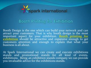 Booth printing for exhibition