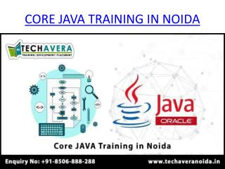 Core JAVA Training in Noida | Best Core JAVA Training Institute in Noida