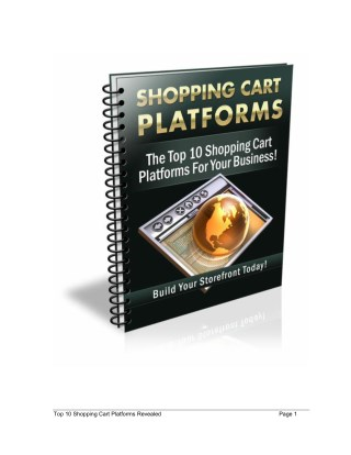 Shopping Carts Guide - What Is The Best Shopping Cart Platform