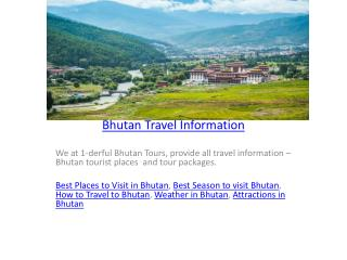 Bhutan Travel Information