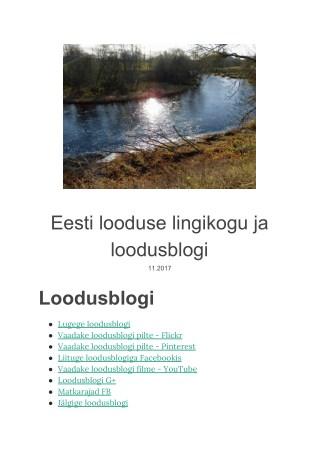Eesti looduse lingikogu ja loodusblogi
