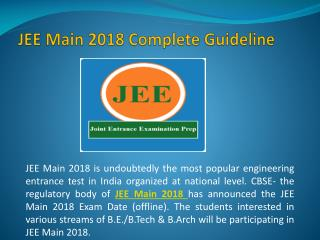 JEE Main 2018 Application Form Syllabus Preparation Tips Eligibility Exam Date