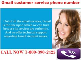 Gmail support phone number 1800-390-2425