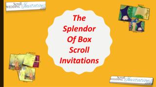 The Splendor Of Box Scroll Invitations