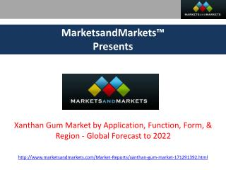 Xanthan Gum Market - Global Forecast to 2022