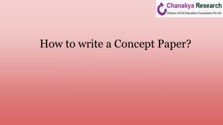 Learn How to write a concept paper?