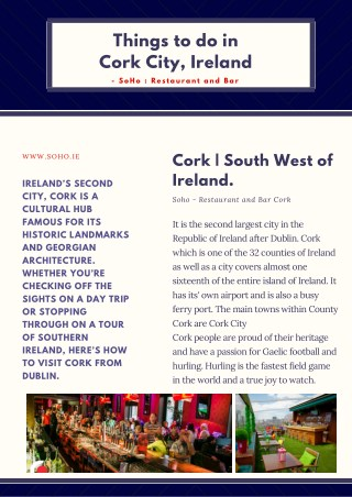 Things to do in Cork City, Ireland
