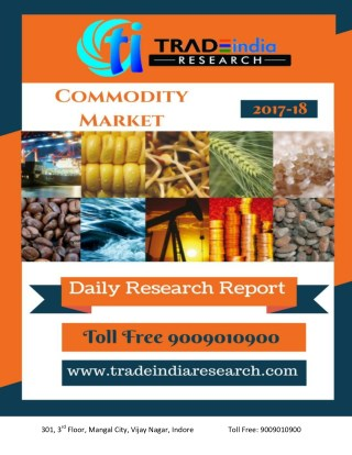 Commodity Daily Prediciton Report For - 27-11-2017 By TradeIndia Research