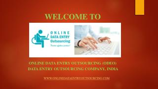 Data Entry Services, India | Online Data Entry Outsourcing (ODEO)