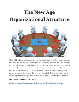 The New Age Organizational Structure