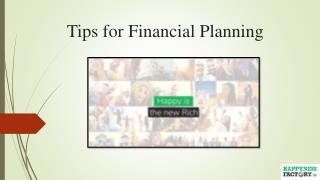Tips for Financial Planning