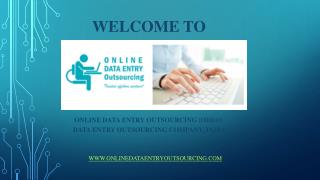 Offline Data Entry Services, India | Online Data Entry Outsourcing (ODEO)