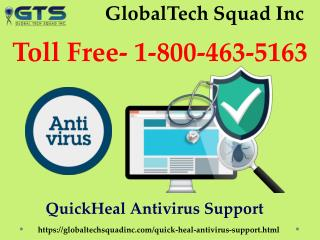 Quick heal Antivirus Support Toll-Free:1-800-463-5163