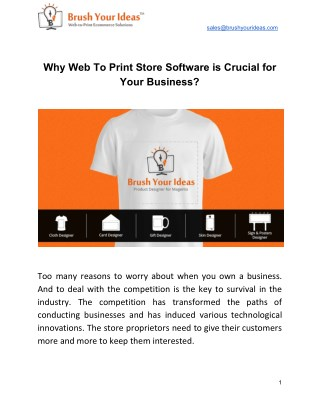 Why Web To Print Store Software is Crucial for Your Business?