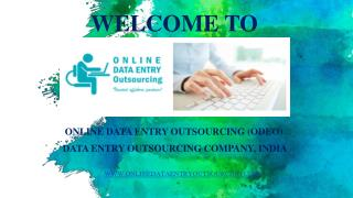 Catalog Data Entry Services, India | Online Data Entry Outsourcing (ODEO)