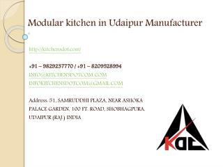Modular kitchen in Udaipur Manufacturer
