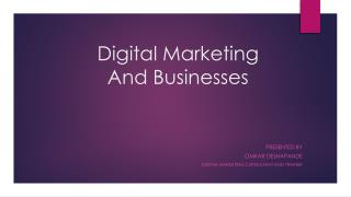 igital marketing and businesses