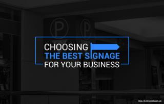 Designing business signage products