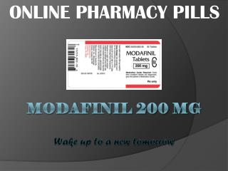 Modafinil 200 mg: The smart pill for your needs