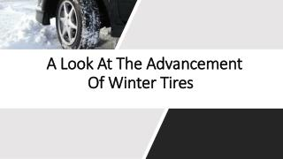 A Look At The Advancement Of Winter Tires