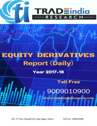 EQUITY DERIVATIVES REPORT