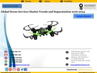 Global Drone Services Market Trends and Segmentation 2016-2024
