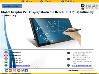 Global Graphic Pen Display Market to Reach USD 171.13 billion by 2016-2024