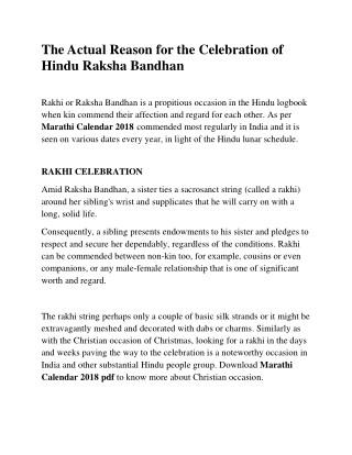 The Actual Reason for the Celebration of Hindu Raksha Bandhan