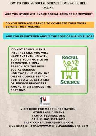 Social Science Homework Help