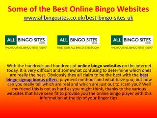 Some of the Best Online Bingo Websites