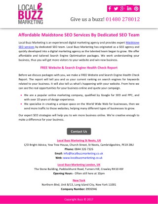 Affordable Maidstone SEO Services By Dedicated SEO Team