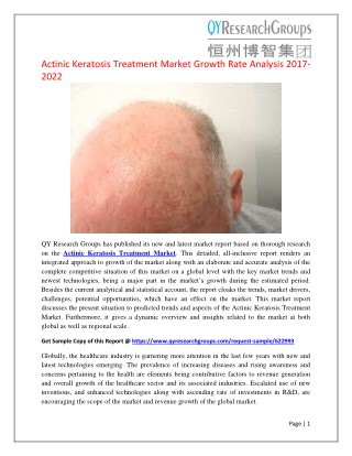 Global Actinic Keratosis Treatment Market Size, Status and Forecast 2022