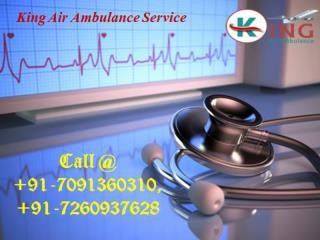 King Air Ambulance Services in Sri Nagar and Shimla with Emergency Service