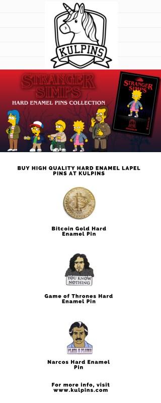 Buy High Quality Hard Enamel Lapel Pins