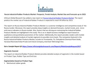 Russia Industrial Rubber Products Market Prospects, Trends Analysis, Market Size and Forecasts up to 2023