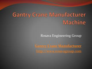 Gantry Crane Manufacturer Machine