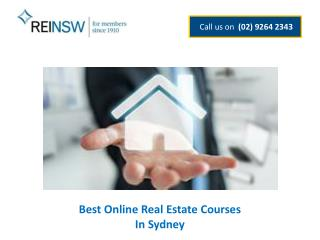 Best Online Real Estate Courses In Sydney