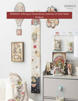 DEMDACO: Offering an Extraordinary Collection of Tailor-Made Products