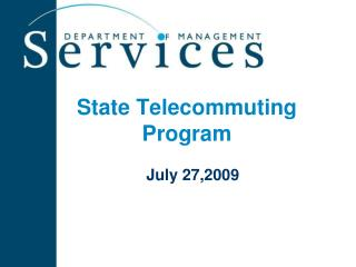 State Telecommuting Program