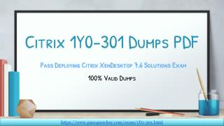 Download 1Y0-301 Question And Answers | Citrix 1Y0-301 Dumps PDF